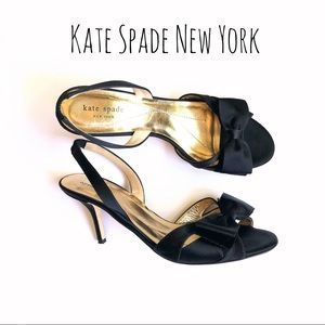 Kate Spade satin bow sling back shoes size 10